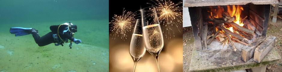 Neujahrs Tauchgang @ auf unserem Plätzli in Birrwil (?)